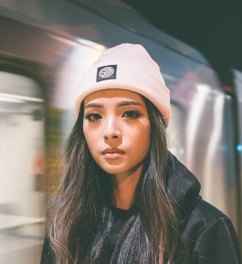 TSM奶白色毛线帽