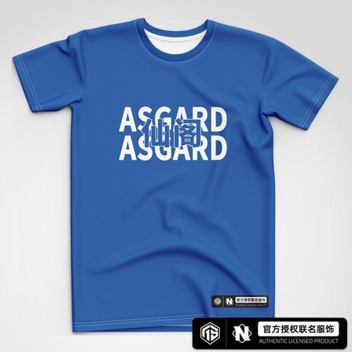 AS仙阁 仙阁蓝字体潮流短袖T恤