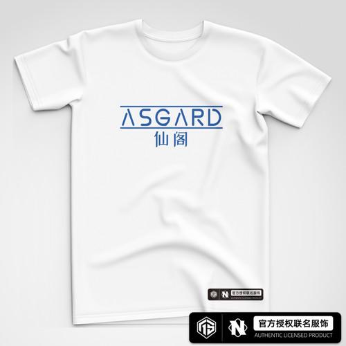 AS仙阁 字体款白色潮流短袖T恤