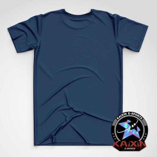 KAIXIN藏青色竖LOGO潮流T恤