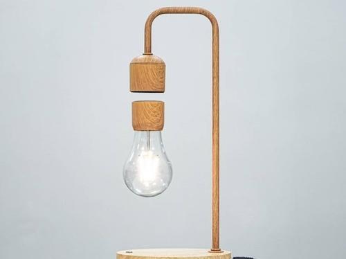 吸引悬浮木纹灯