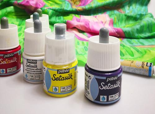 Silk Scarf Painting Fun