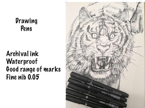 8 Drawing Pens 0.05, 0.1, 0.2, 0.3, 0.4, 0.5, 0.7, 0.8