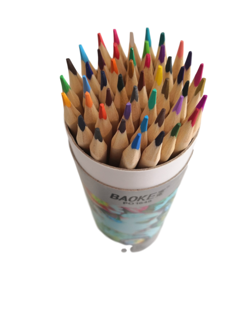 Color Pencils in convenient carrying tube,  with built in  sharpener