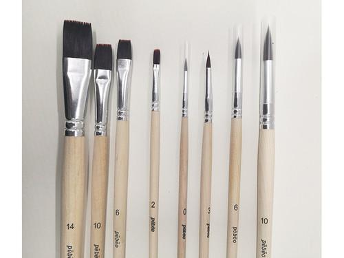 Pebeo Fine Art Nylon Brushes Set Firm Bristle