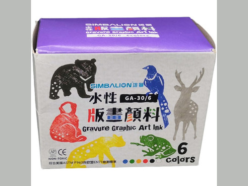 Water based Printing Ink 6 colors 30mls