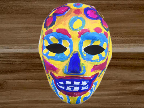 Mask to decorate for Halloween