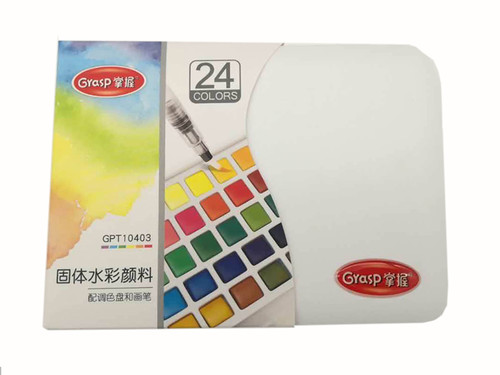 Grasp Watercolor set 24 colors with watercolour travel brush.