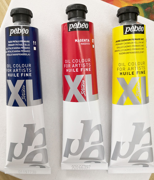 Pebeo XL Oil Paint 3 Primary Colors 80ml