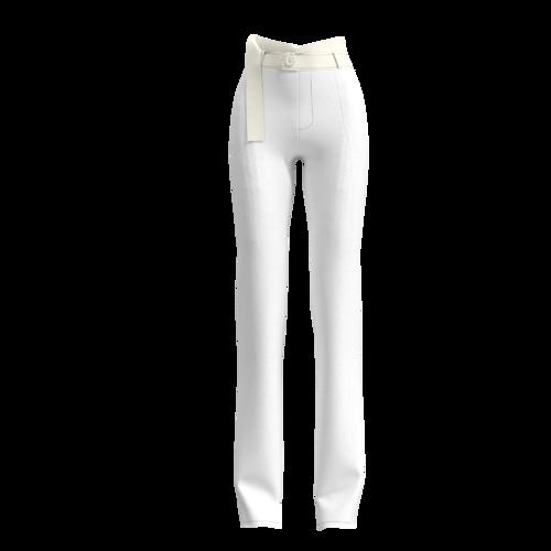 SS2020 女士白色锁链珍珠西服套装 PERLE