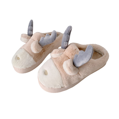 Cartoon warm fluffy slippers