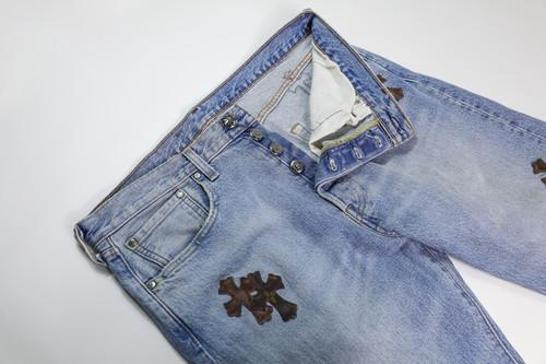 inneralchemy remake ChromeHearts 李维斯501 牛仔裤DIY(老花中古版)