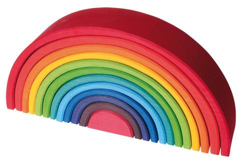 德国Grimm's网红彩虹积木百变造型儿童益智平衡搭建玩具华德福