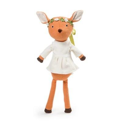美国Hazel Village手工有机棉婴童安抚玩偶娃娃安全不掉絮玩伴