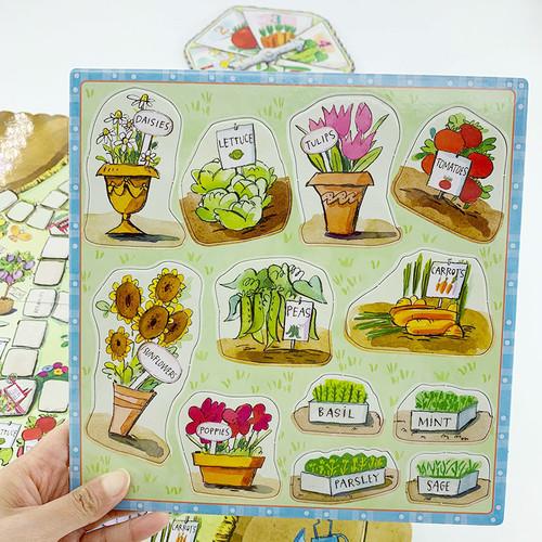 eeBoo做个快乐小园丁桌游植物学习认知培养逻辑规则意识儿童益智