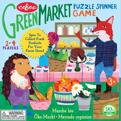eeBoo儿童益智桌游玩具农贸市场食物果蔬分类认知英文学习